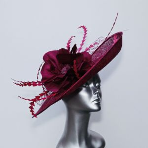 Statement Mother of the Bride Hatinator in Blackcurrant Jam 16365/SD279